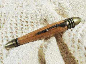 Civil War Pen in Butternut with Antique Brass