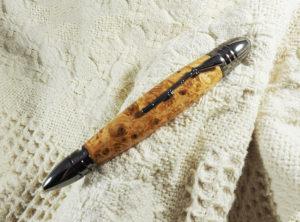 Civil War Pen in Gunmetal with Boxelder Burl