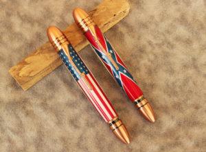 Civil War Set of 2 Pens in Antique Copper