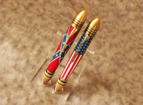 160421-01 Civil War Bullet Pens – Antique Brass