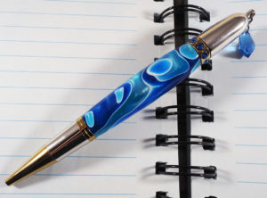Diva Twist Pen with Blue Crystal Charm