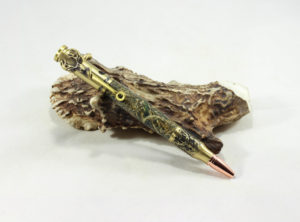 .30 Caliber Bolt-Action Deerhunter Pen Turned in Real Tree Max 5 ™ Camo with Antique Brass Finish